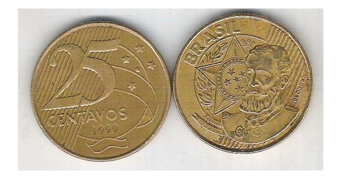 Moedas de 25 centavos dos anos de 1999 e 2000 que podem valer até 150 reais e você nem imagina.